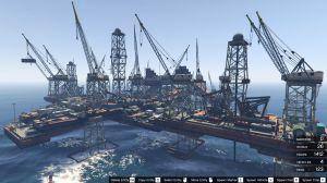 Большая нефтяная платформа для гта 5