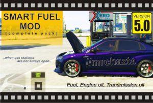 Smart Fuel Mod - мод на топливо для гта 5