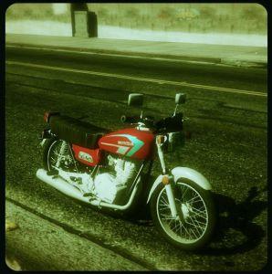 Honda 125 CG - старенький мотоцикл Хонда