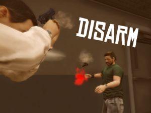 Disarm - разоружение попаданием в оружие